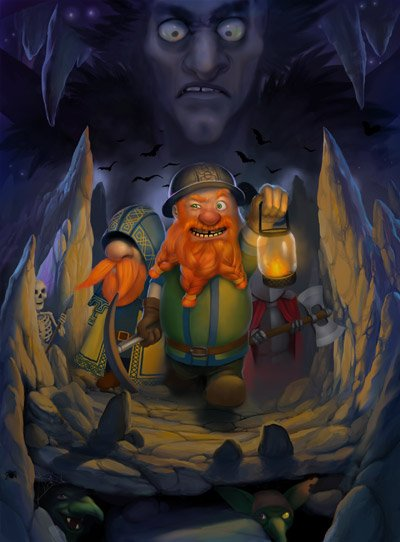 Box art - A Game of Dwarfs