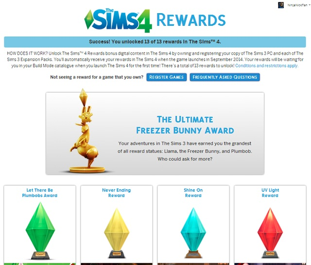 Sims 4 dating rewards