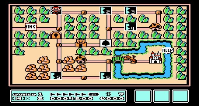 super mario bros 3 world 4 map
