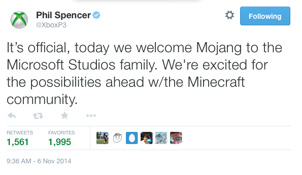 Microsoft Now Officially Owns Minecraft Dev Mojang