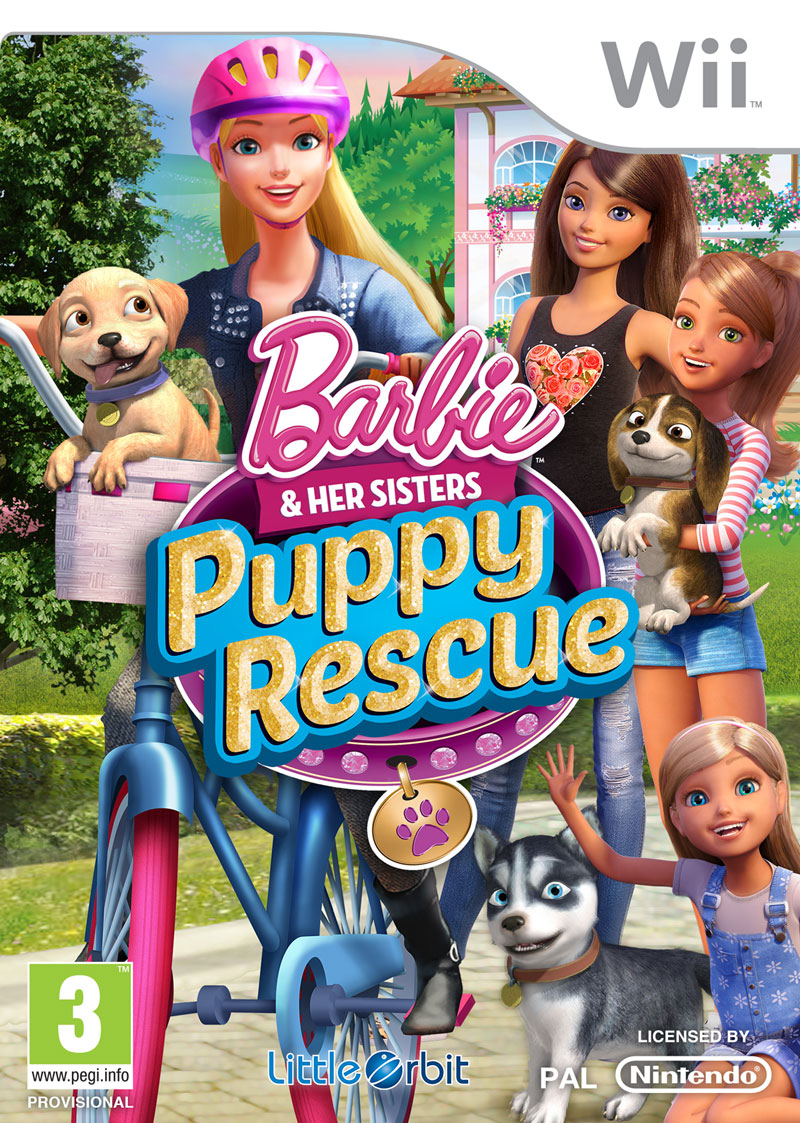 Box art - Barbie and her Sisters Puppy Rescue