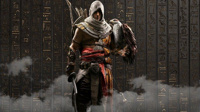 Assassin's Creed Origins Bayek and Eagle