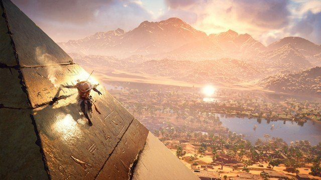 Assassin's Creed Origins Egyptian Pyramid and River Valley, best video game prequels