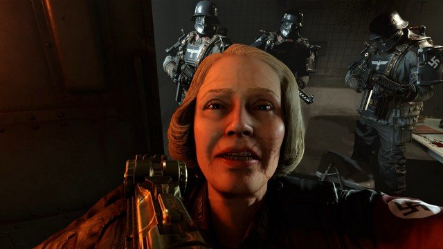 Wolfenstein 2 Frau Engle With Gun