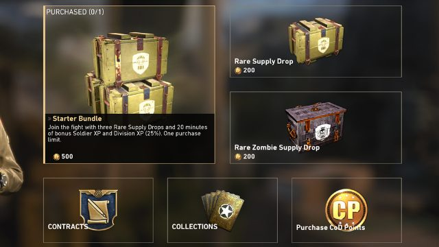 Call of Duty WW2 Buy Supply Drops