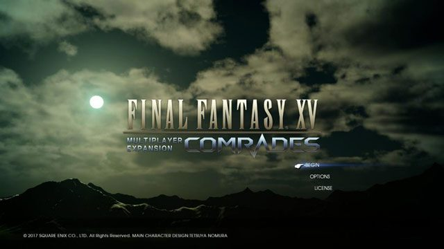 Final-Fantasy-15-Comrades-Main-Menu
