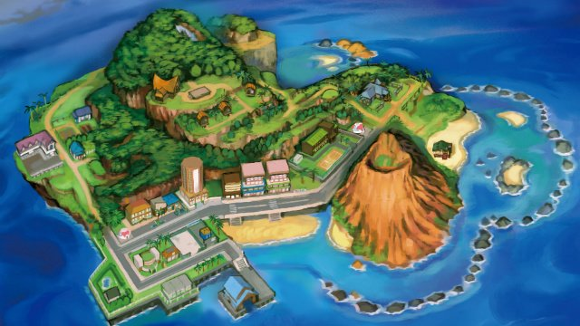 Pokemon Ultra Sun and Ultra Moon Route 1 Alola