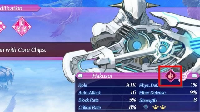 Xenoblade Chronicles 2 Blade Elements and Stats