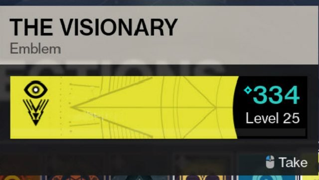 Destiny 2 Visionary Emblem Inventory