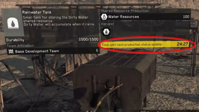 Metal Gear Survive Resource Timers