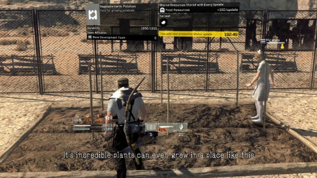 Metal Gear Survive Food: How to Hunt, Find a Potato, Build