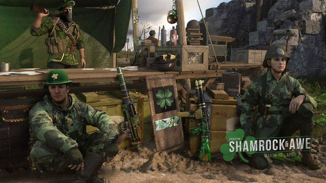 CoD WW2 Shamrock and Awe Cosmetics