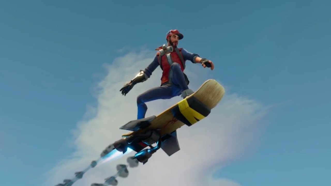 fortnite hoverboard battle royale - new hoverboard in fortnite