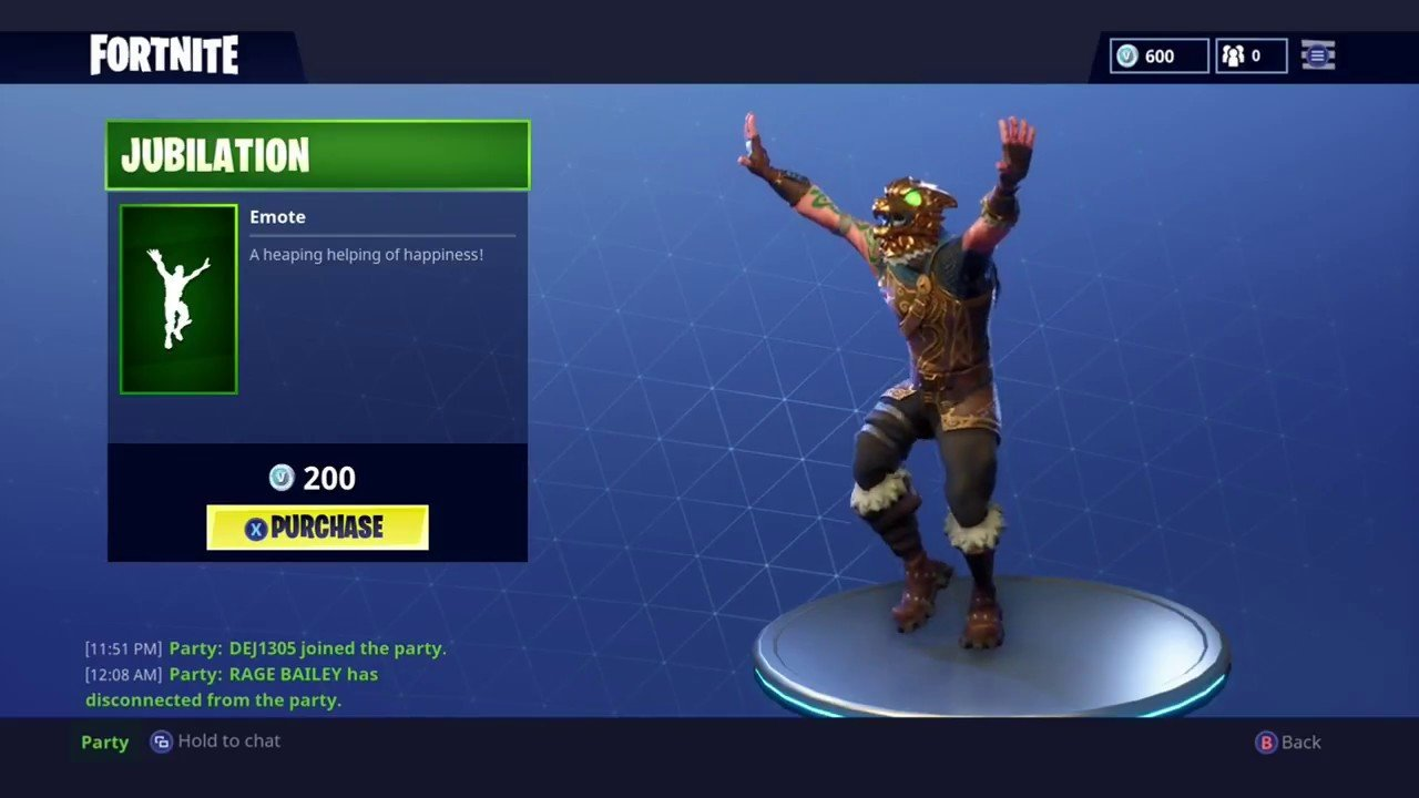 Jubilation Fortnite Emote