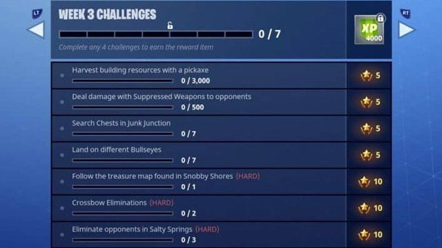 Fortnite Season 3 Week 3 Challenges