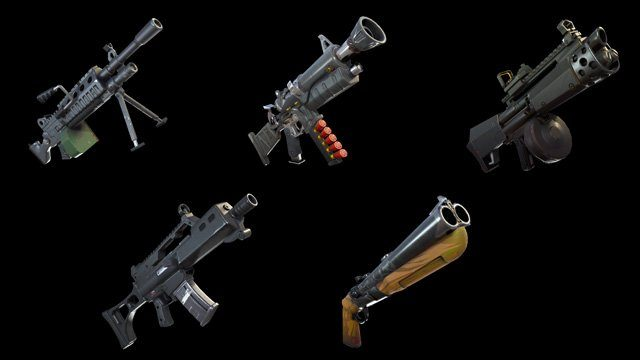 new fortnite weapons