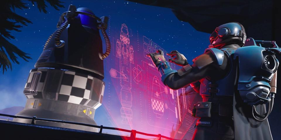 Fortnite Rocket Countdown TV