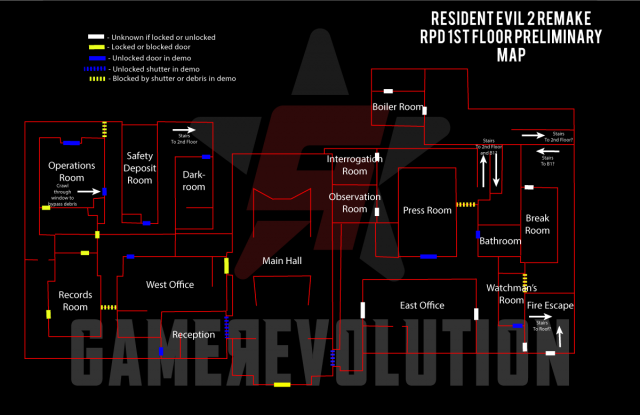 RE2-Remake-RPD-First-Floor-Mapped