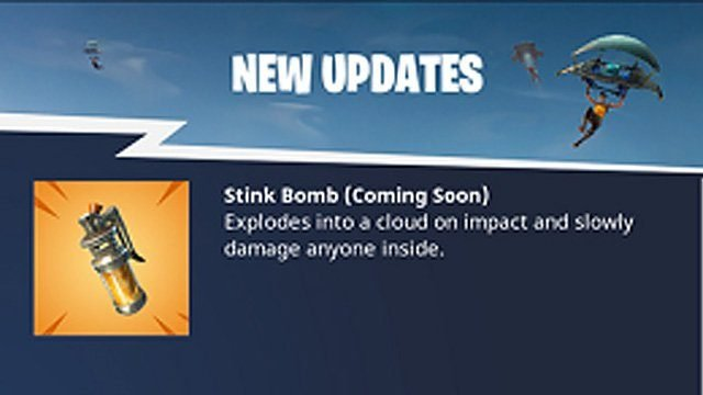 New Fortnite Update 4.4 Launches Soon, Stink Bomb Likely On The Way