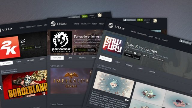steam update developers publishers dedicated page