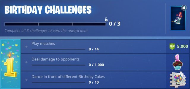 Fortnite 1st Birthday Challenges and Rewards