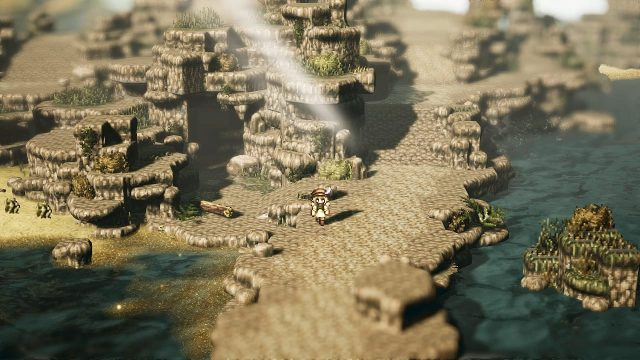 Octopath traveler debuts at number three in the UK charts