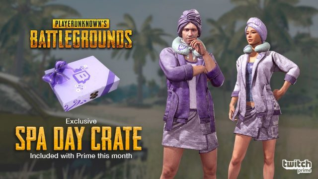 PUBG Spa Day Skins Twitch Prime