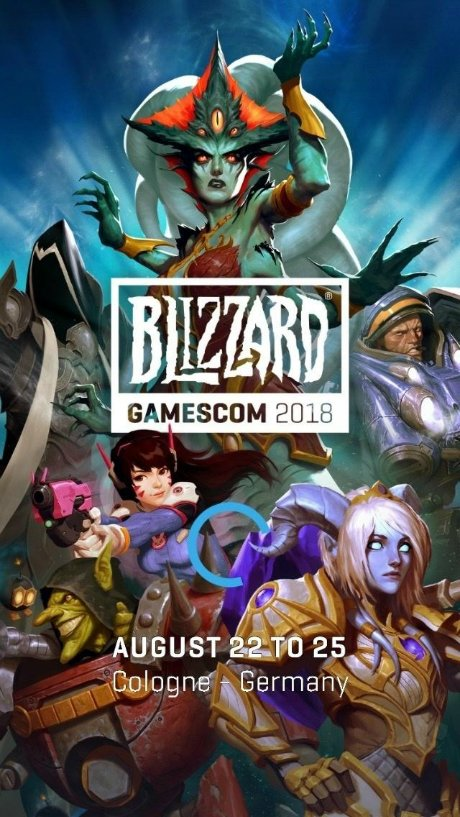 Blizzard Gamescom 2018 Official Poster