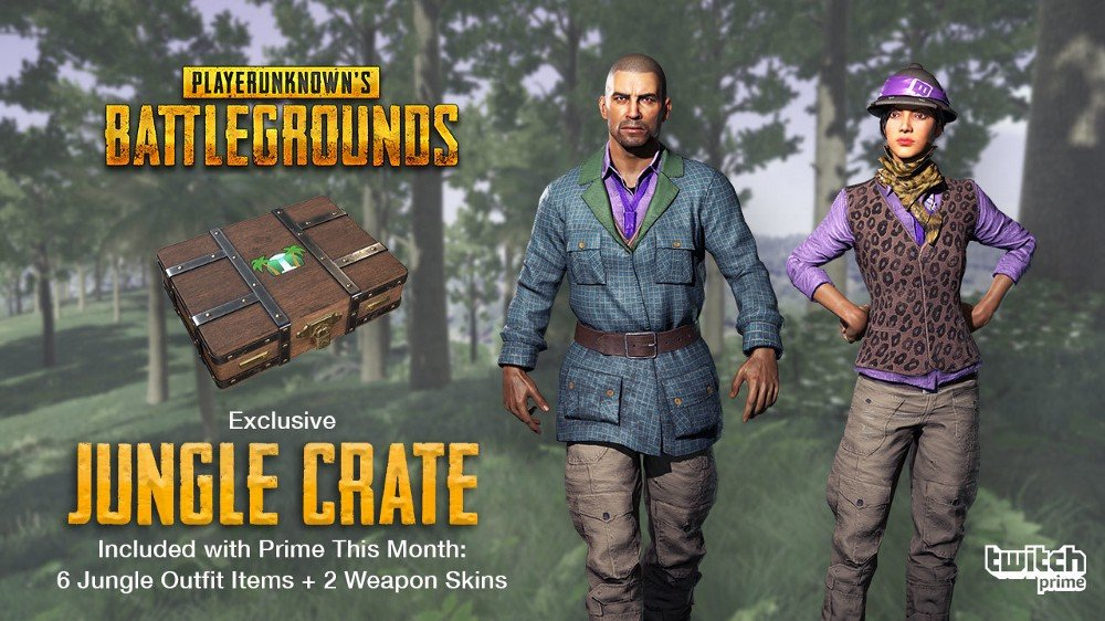 PUBG Twitch Prime Jungle Skins