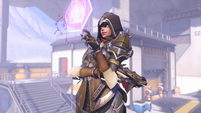 Sombra's Demon Hunter skin debuted during the BlizzCon All-Access Kickoff stream
