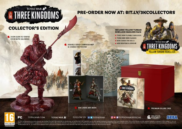 Total War Three Kingdoms Pre-Order Bonus Collector's Edition