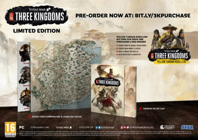 Total War Three Kingdoms Pre-Order Bonus Limited Edition