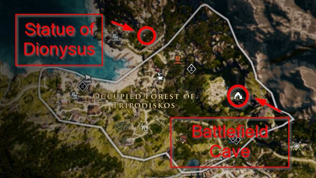AC Odyssey Happy Hour Riddle Map
