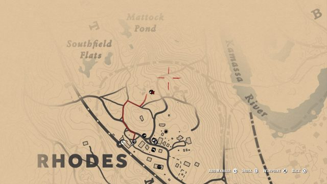 Red Dead Redemption 2 fence rhodes