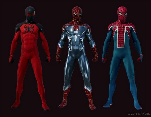 Spider-Man PS4 suits