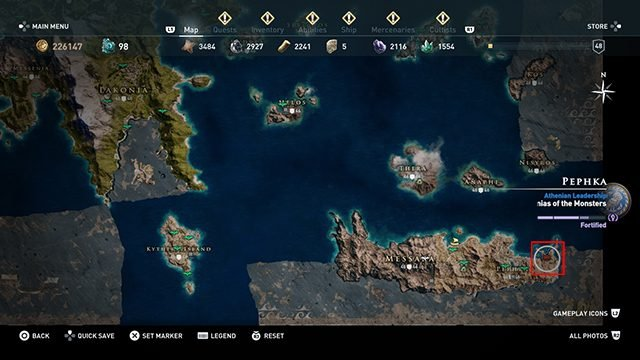 Assassin's Creed Odyssey Arena - Where Is It?