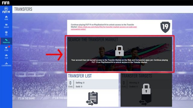FIFA 19 Web App Transfer Market Locked - How to Fix - GameRevolution