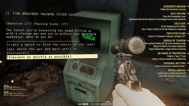 Fallout 76 Knowledge Exam Answers - GameRevolution