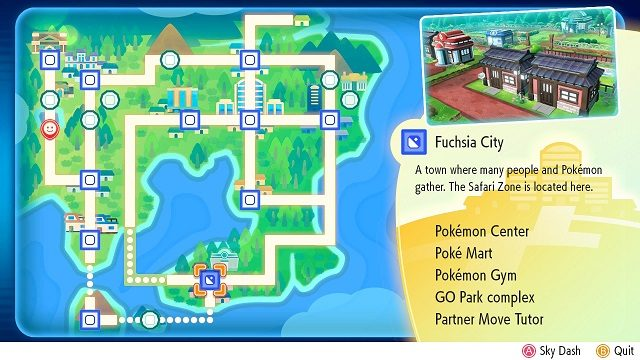 Pokemon Let's Go - Go Park Location MAP