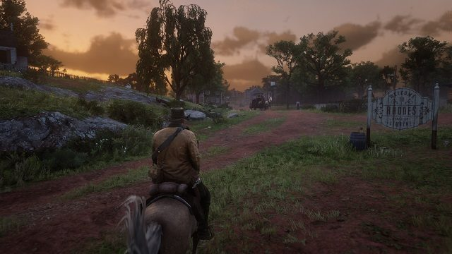 Red Dead Redemption 2 Rhodes PS4 Screen