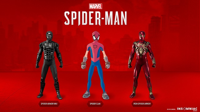 Spider-Man The Heist DLC Suits Spider-Clan Iron Spider DLC