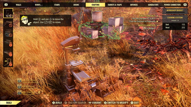 Fallout 76 Build a Bigger Camp - How to Perform - GameRevolution