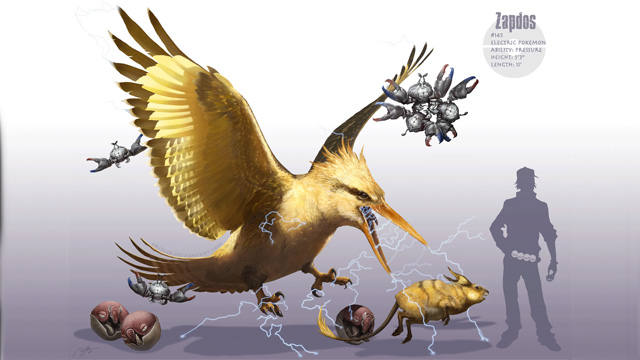 Detective Pikachu could have a Zapdos looking like this.