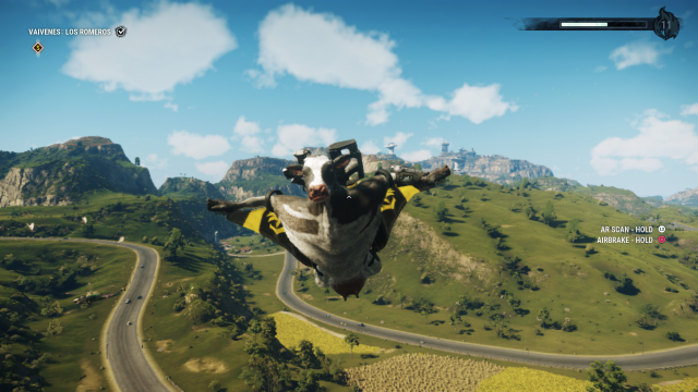 Just Cause 4 cow gun