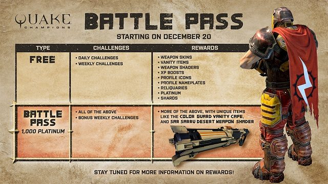 Quake Champions Battle Pass information.