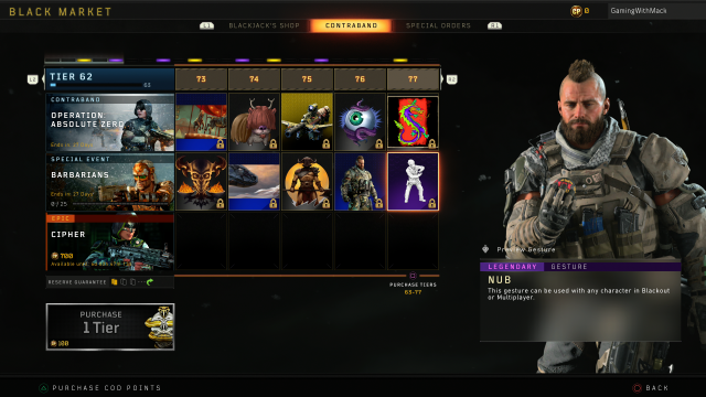 Black Ops 4 Barbarians all tiers rewards end time