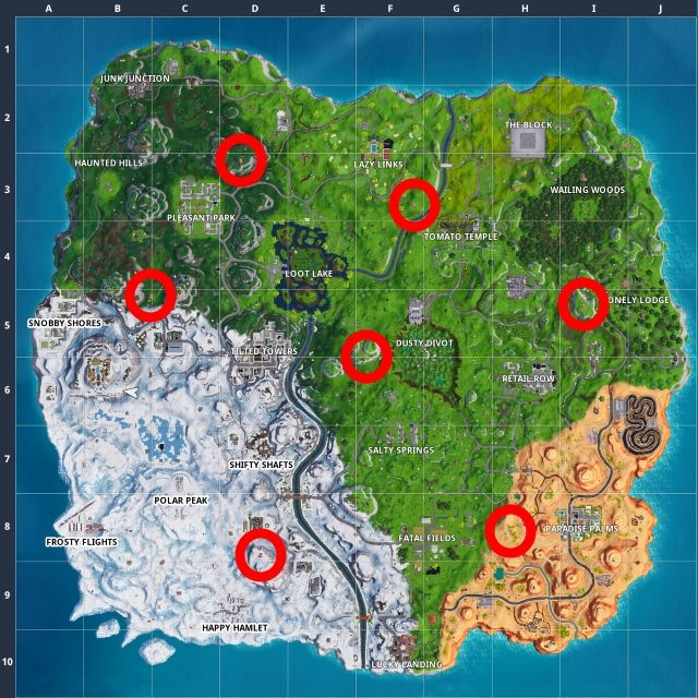 All Fortnite Expedition Outposts Locations Map