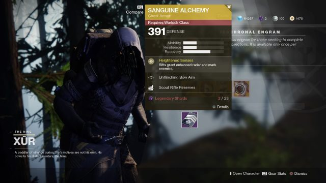 Destiny 2 Xur inventory