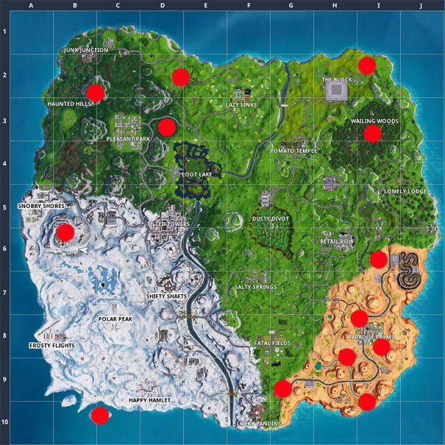Fortnite season 7 week 7 challenges cheat sheet