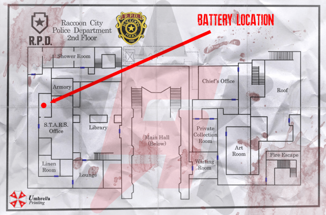 Resident Evil 2 Battery Location